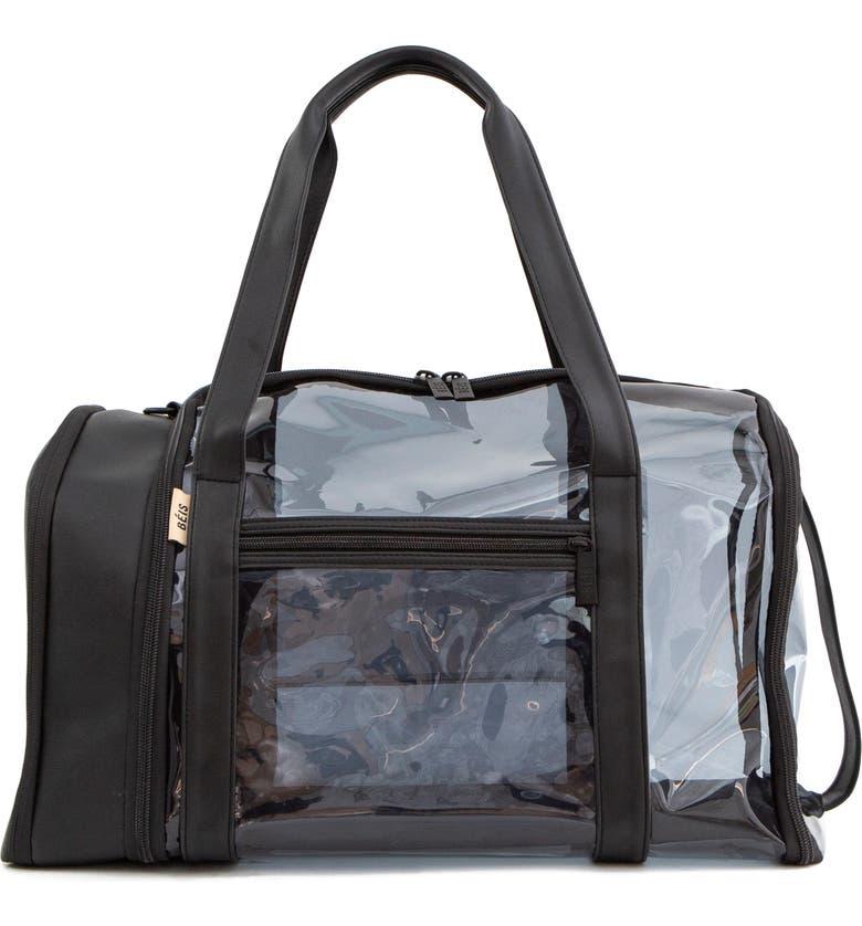 BÉIS Transparent Gym Duffle Bag, Main, color, 001