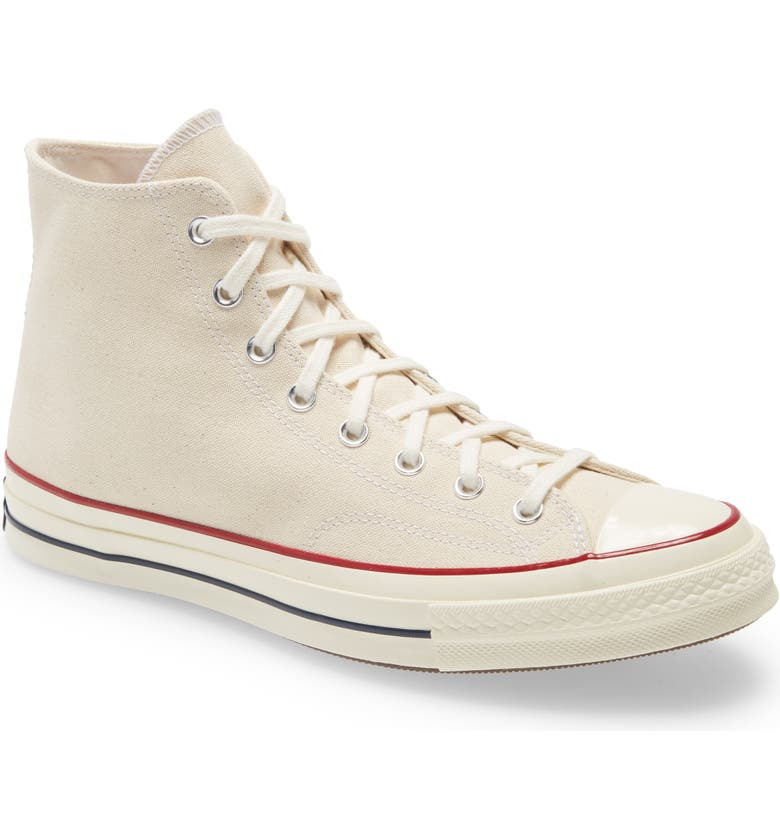 CONVERSE Chuck Taylor<sup>®</sup> All Star<sup>®</sup> 70 High Top Sneaker, Main, color, PARCHMENT/ GARNET/ EGRET