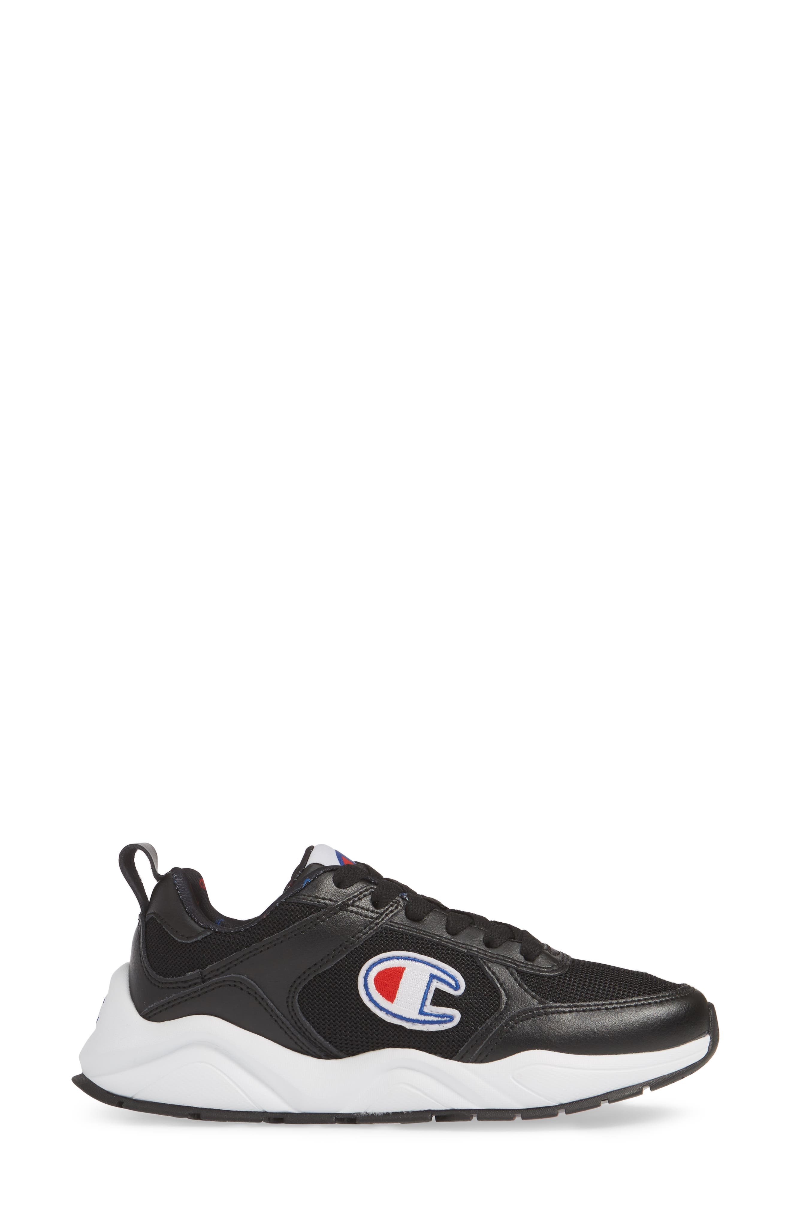 ,                             93 Eighteen Classic Sneaker,                             Alternate thumbnail 3, color,                             BLACK