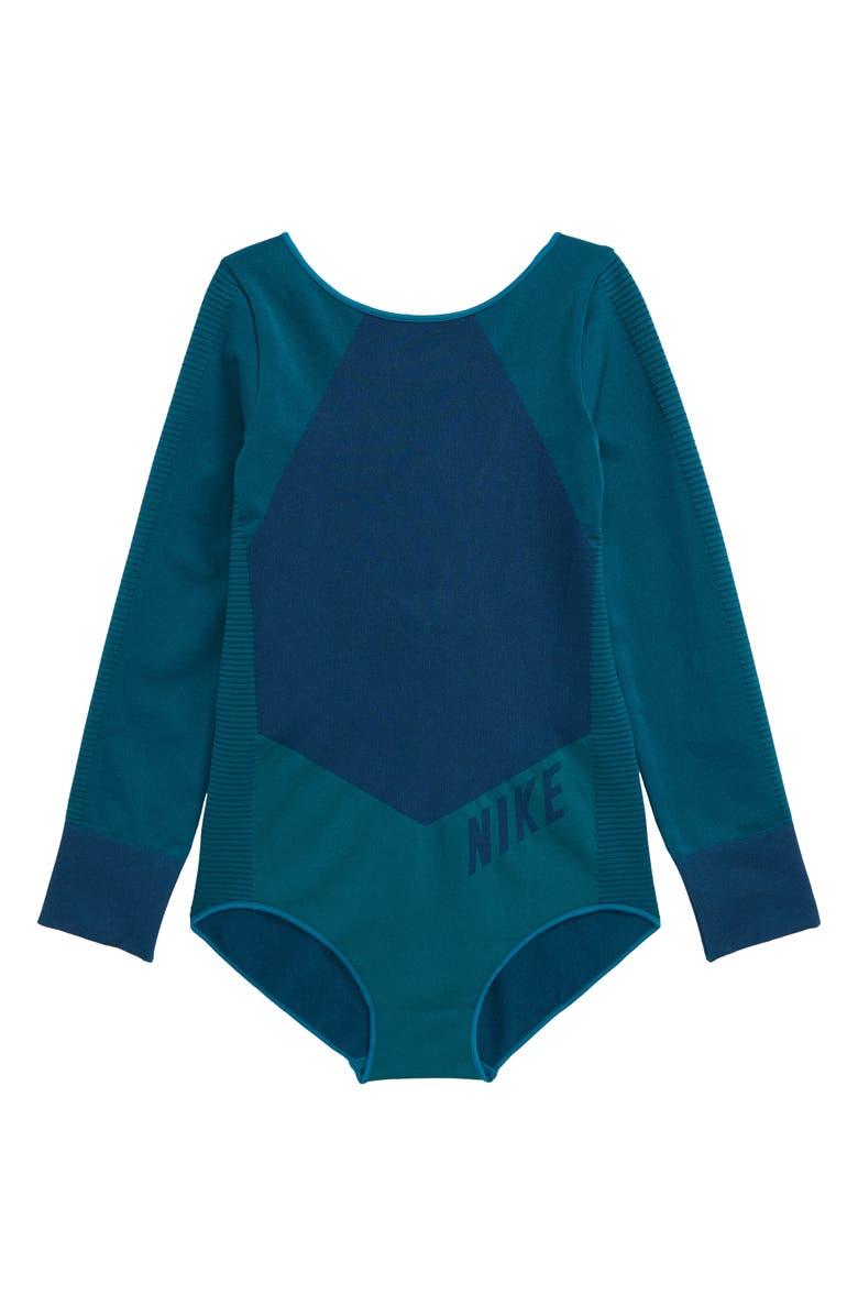NIKE Long Sleeve Bodysuit, Main, color, 440