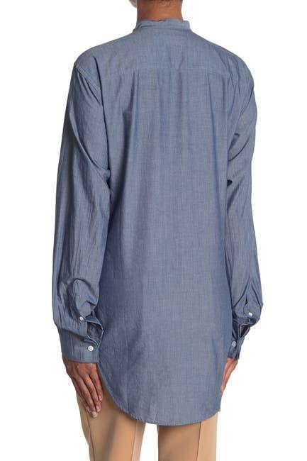 Image of Burberry Pintucked Bib Shirt