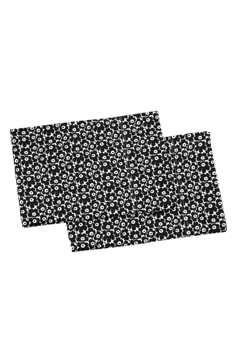 MARIMEKKO Pikkuinen Unikko 2-Pack Shams, Main, color, BLACK