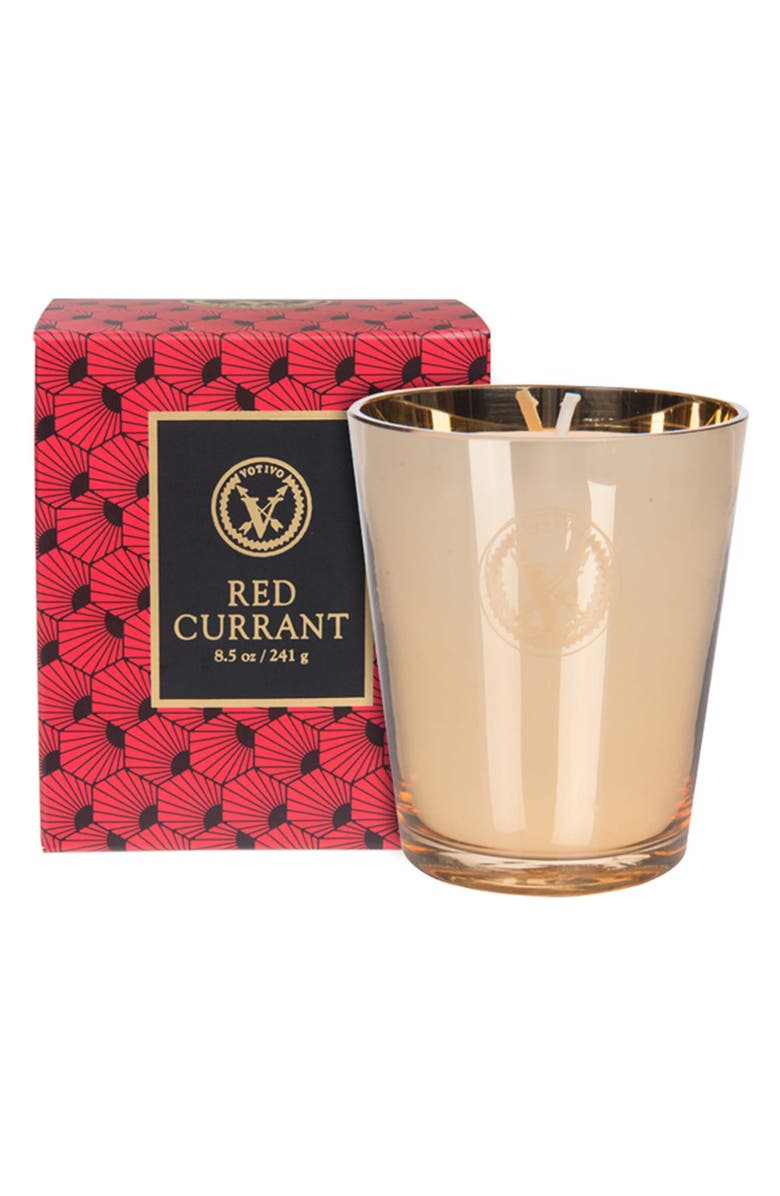 VOTIVO Red Currant Collection - Metallic Elegance Candle, Main, color, RED CURRANT