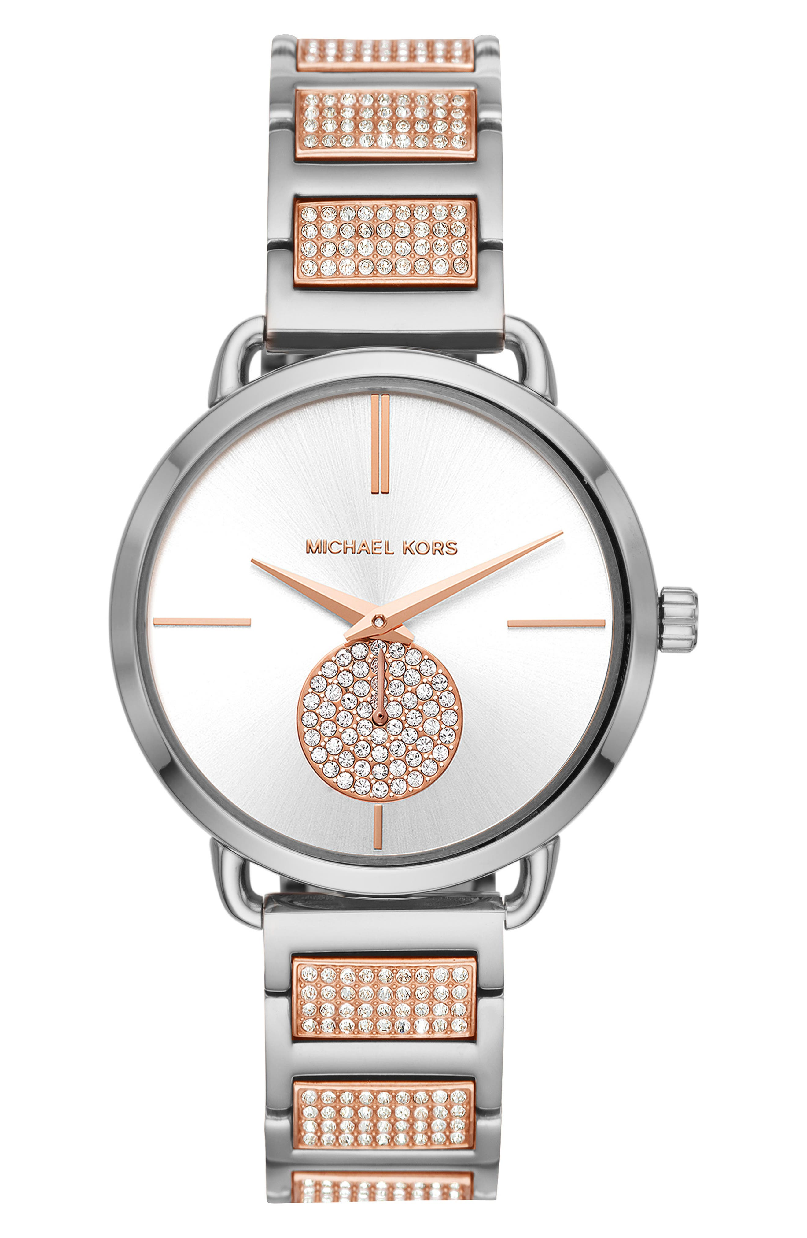 ,                             Portia Round Bracelet Watch, 36.5mm,                             Main thumbnail 5, color,                             042