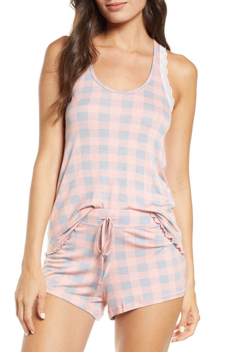 HONEYDEW INTIMATES All American Shortie Pajamas, Main, color, WISH LIST CHECK