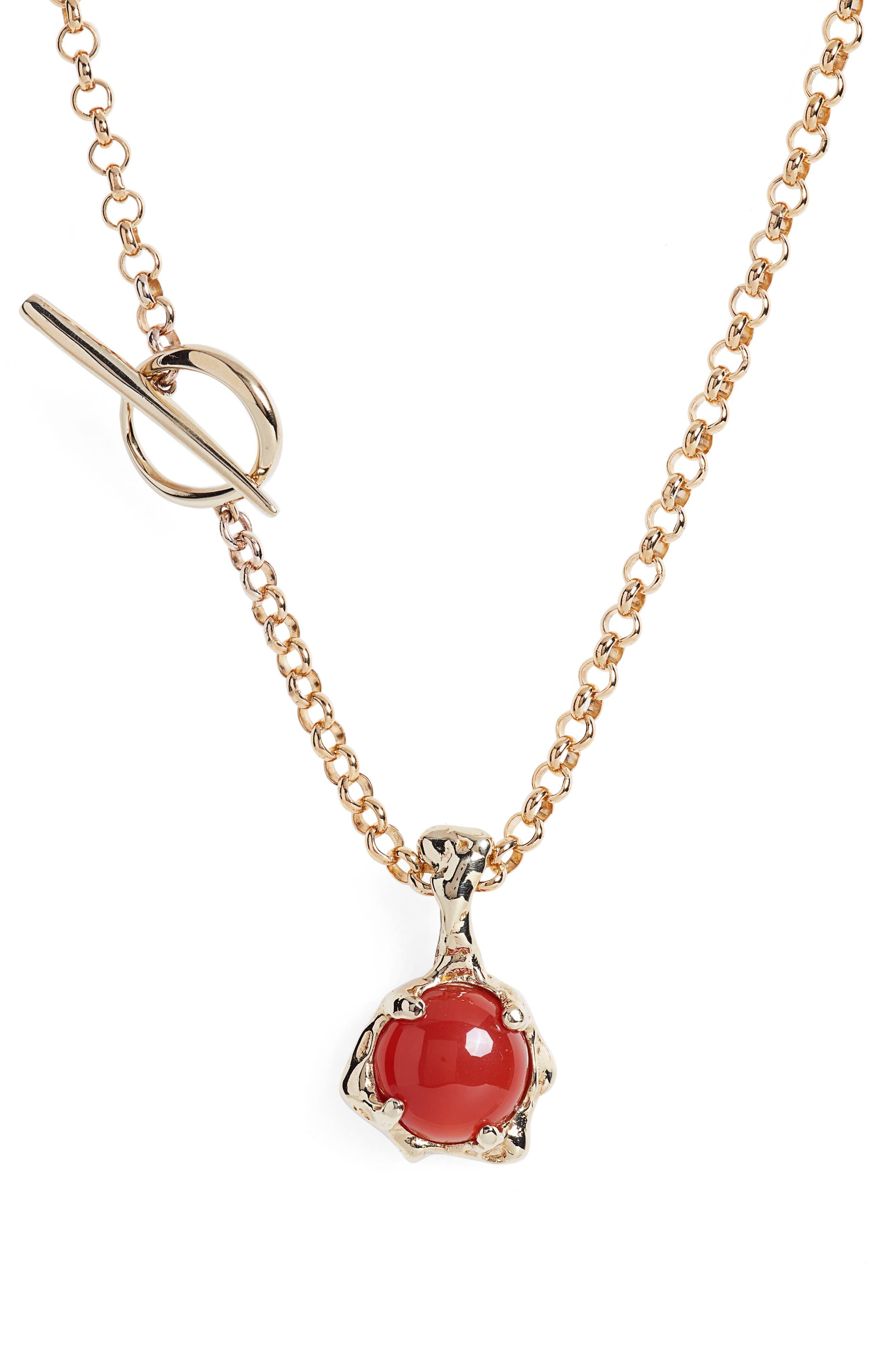 Lava Amulet Pendant Necklace