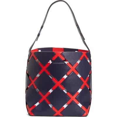 Calvin Klein 205W39Nyc Patchwork Quilt Leather Bucket Bag -