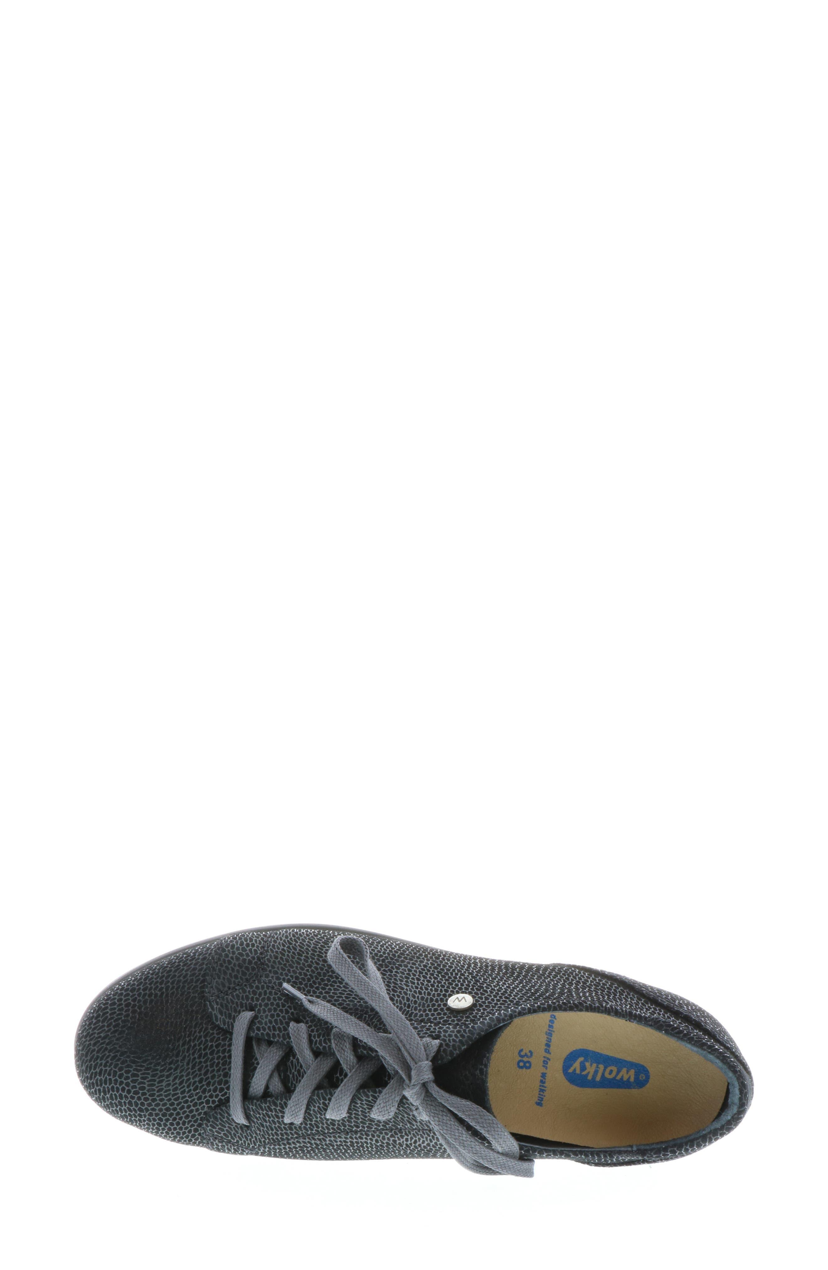 ,                             Kinetic Sneaker,                             Alternate thumbnail 5, color,                             BLACK NUBUCK LEATHER