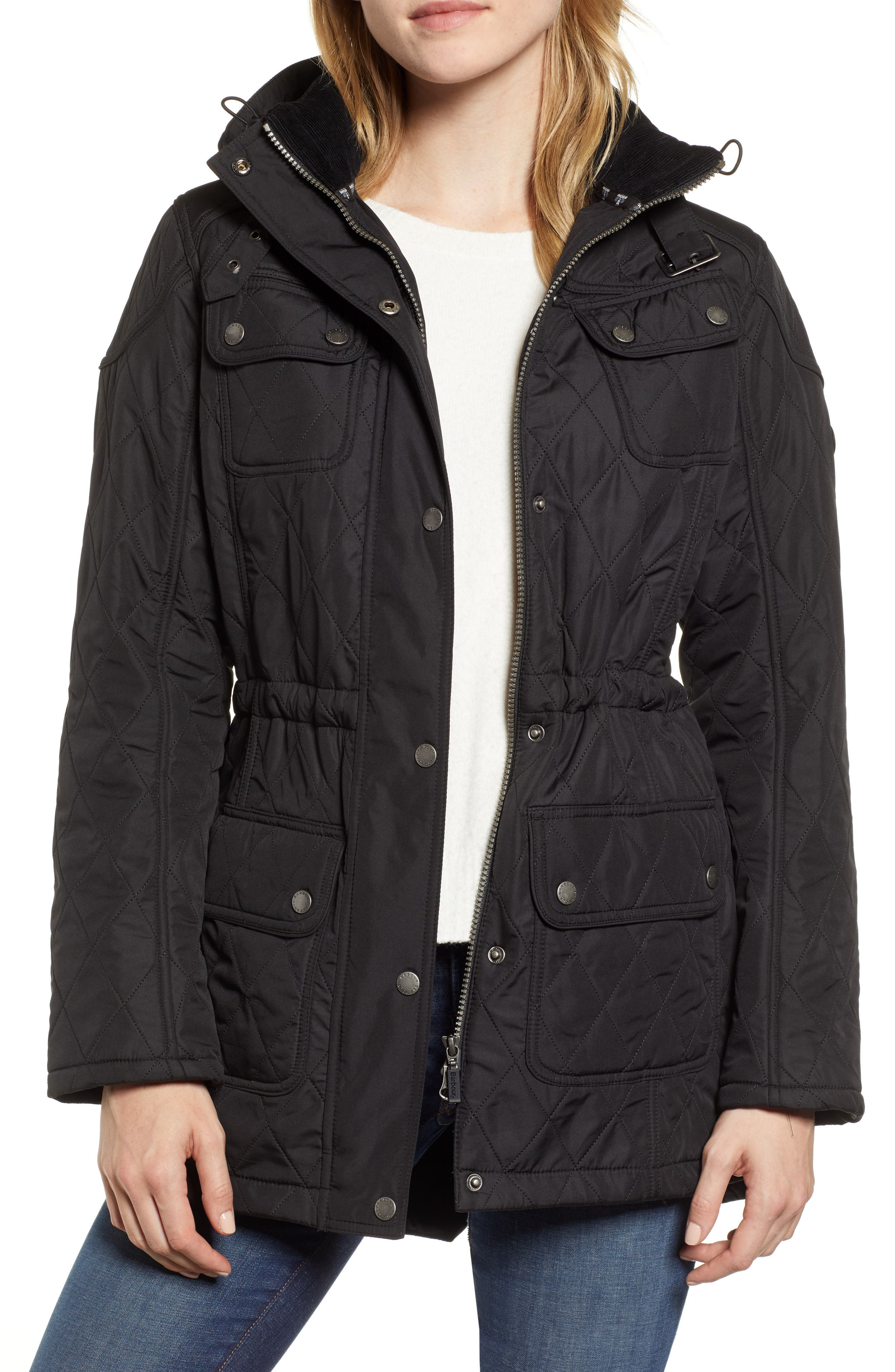 ,                             'Arrow' Quilted Anorak,                             Main thumbnail 8, color,                             001