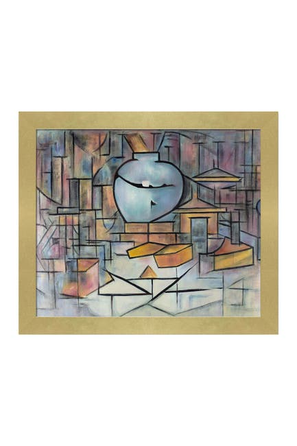 Image of Overstock Art Still Life with Gingerpot II with Semplice Specchio Frame