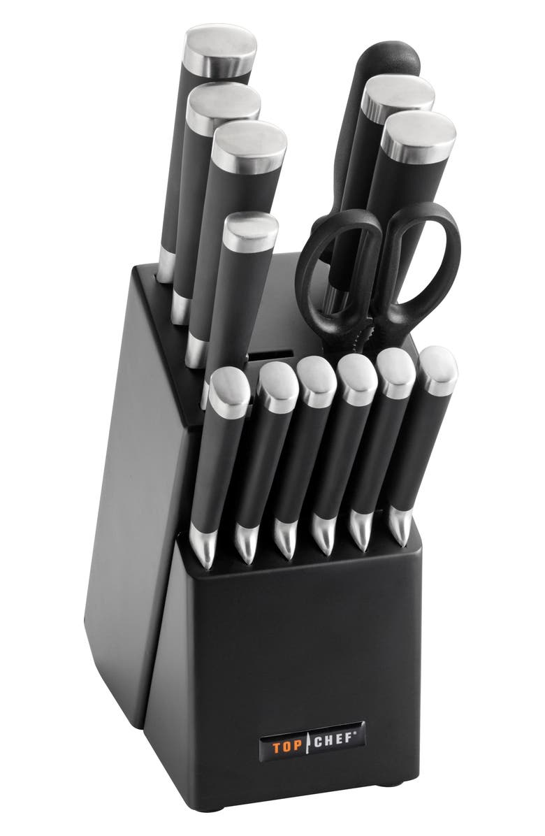 TOP CHEF Samurai 15-Piece Knife Block Set, Main, color, 001
