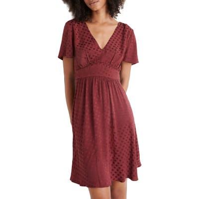 Madewell Fit & Flare Dress, Burgundy