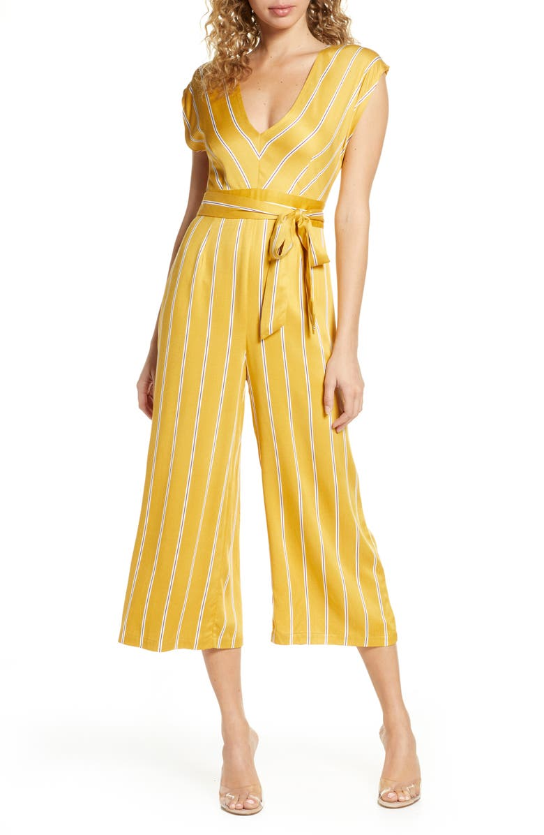 BB DAKOTA All the Right Moves Printed Wide Leg Jumpsuit, Main, color, SUNSET