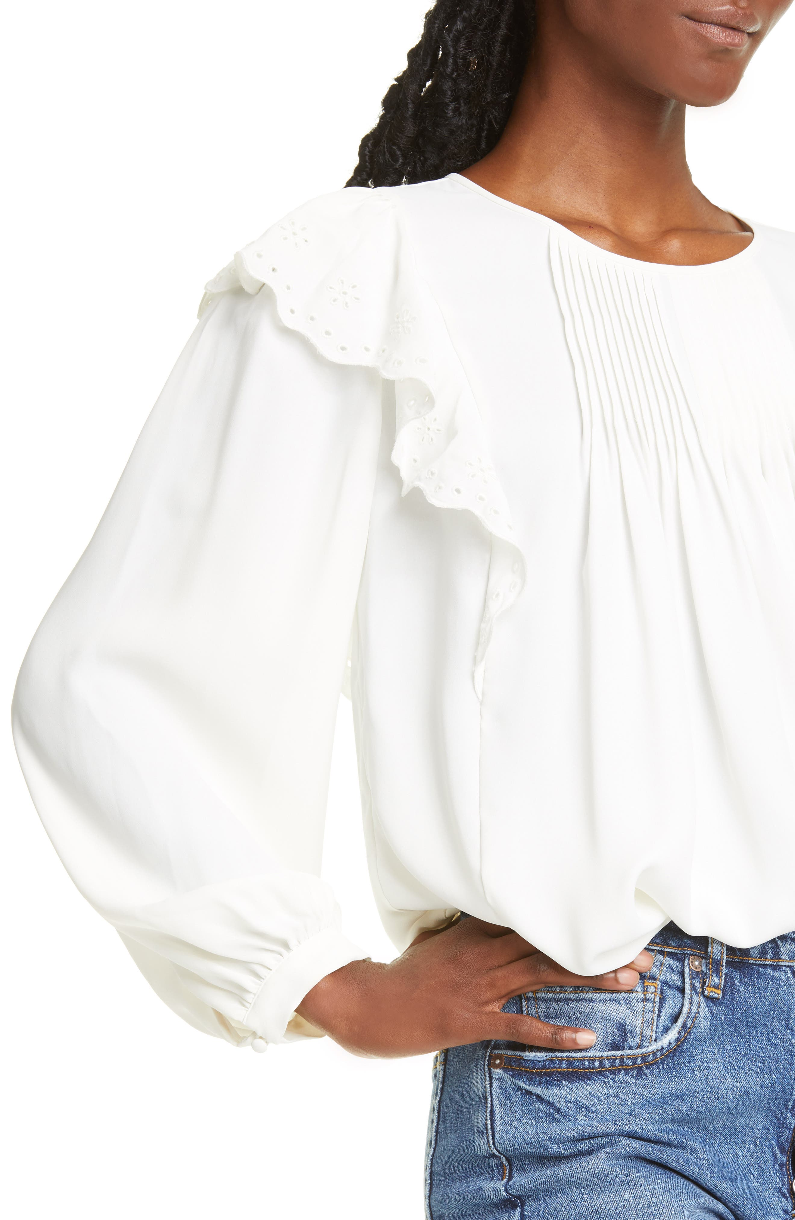 Joie Tops Acelynn Pintucked Blouse