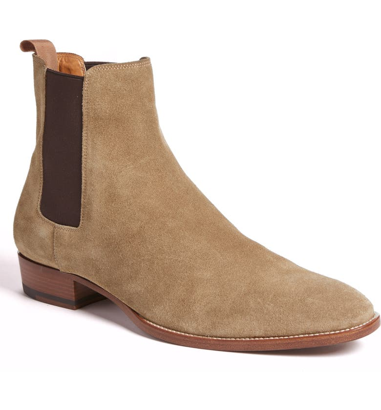 SAINT LAURENT Wyatt Chelsea Boot, Main, color, TOBACCO SUEDE