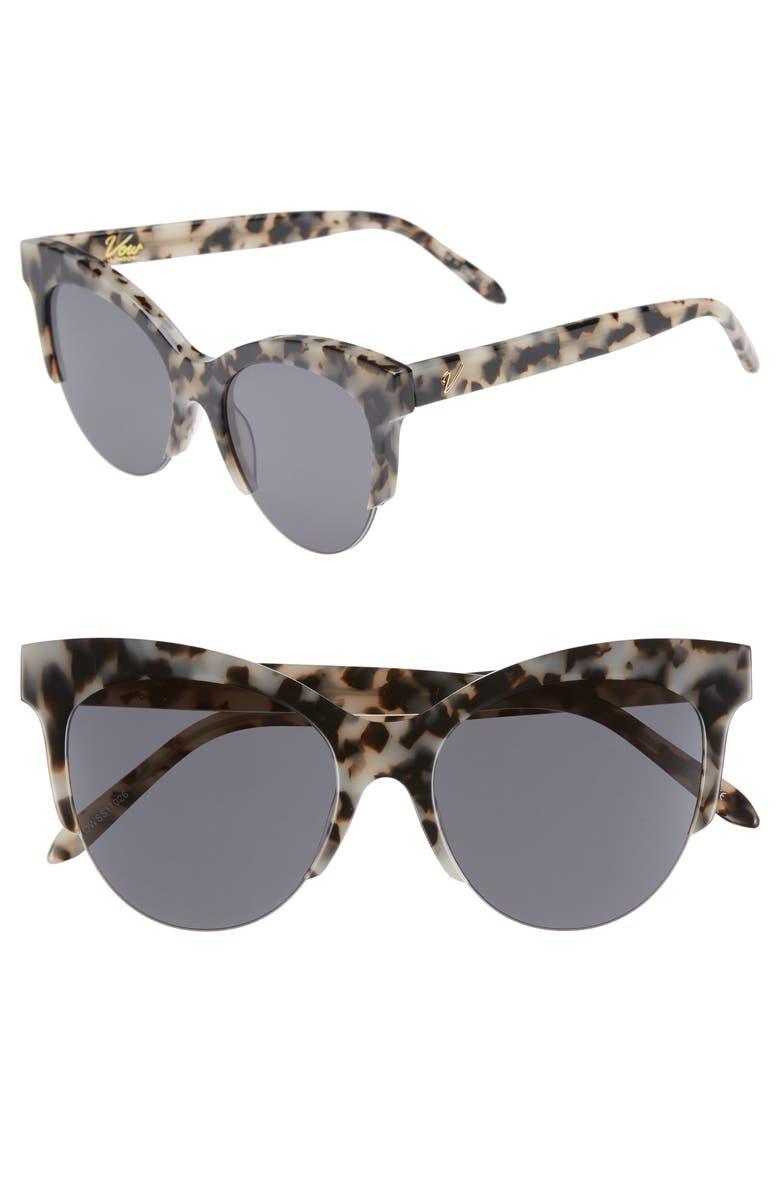 VOW LONDON Cody 53mm Cat Eye Sunglasses, Main, color, 200