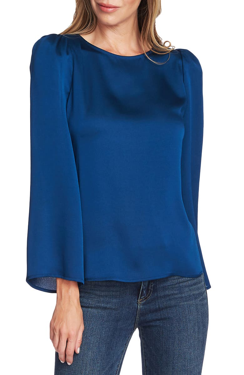 VINCE CAMUTO Long Sleeve Satin Blouse, Main, color, 495