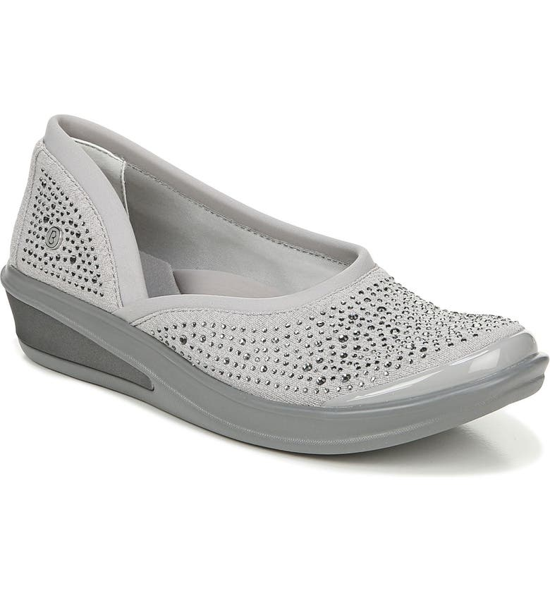 BZEES Moonlight Skimmer Flat, Main, color, GREY FABRIC