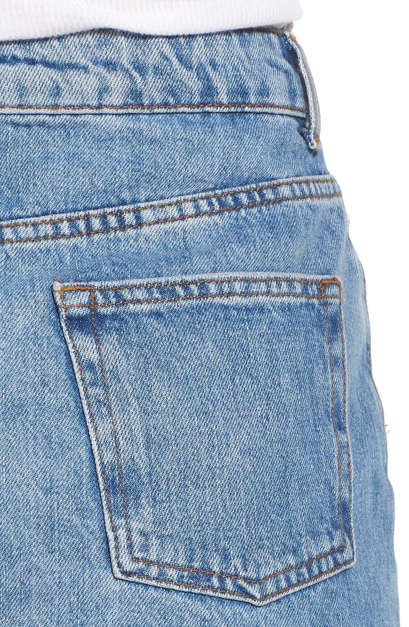 ,                             Denim Miniskirt,                             Alternate thumbnail 5, color,                             420