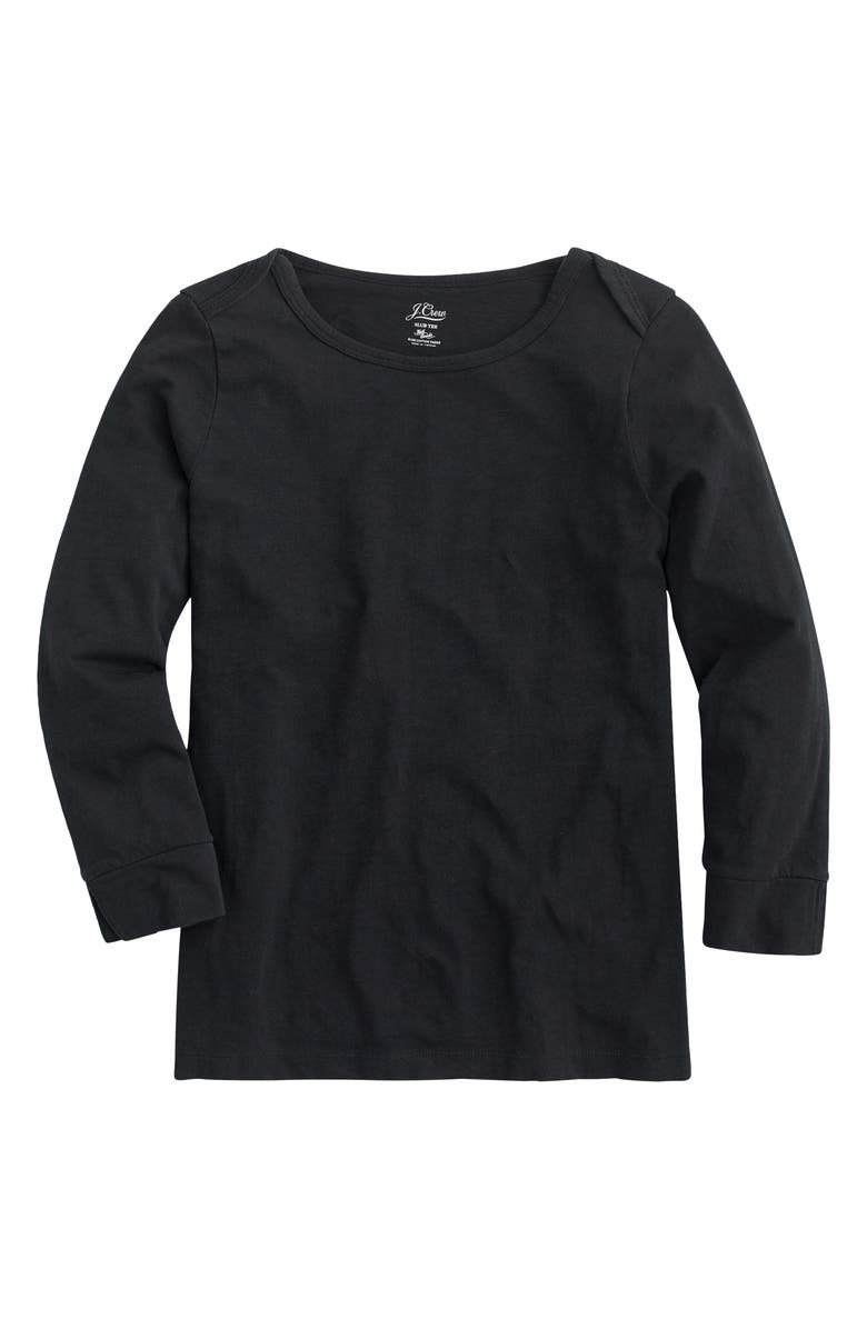 J.CREW Boatneck Painter T-Shirt, Main, color, BLACK