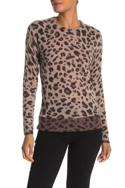 Image of M Magaschoni Leopard Print Cashmere Sweater