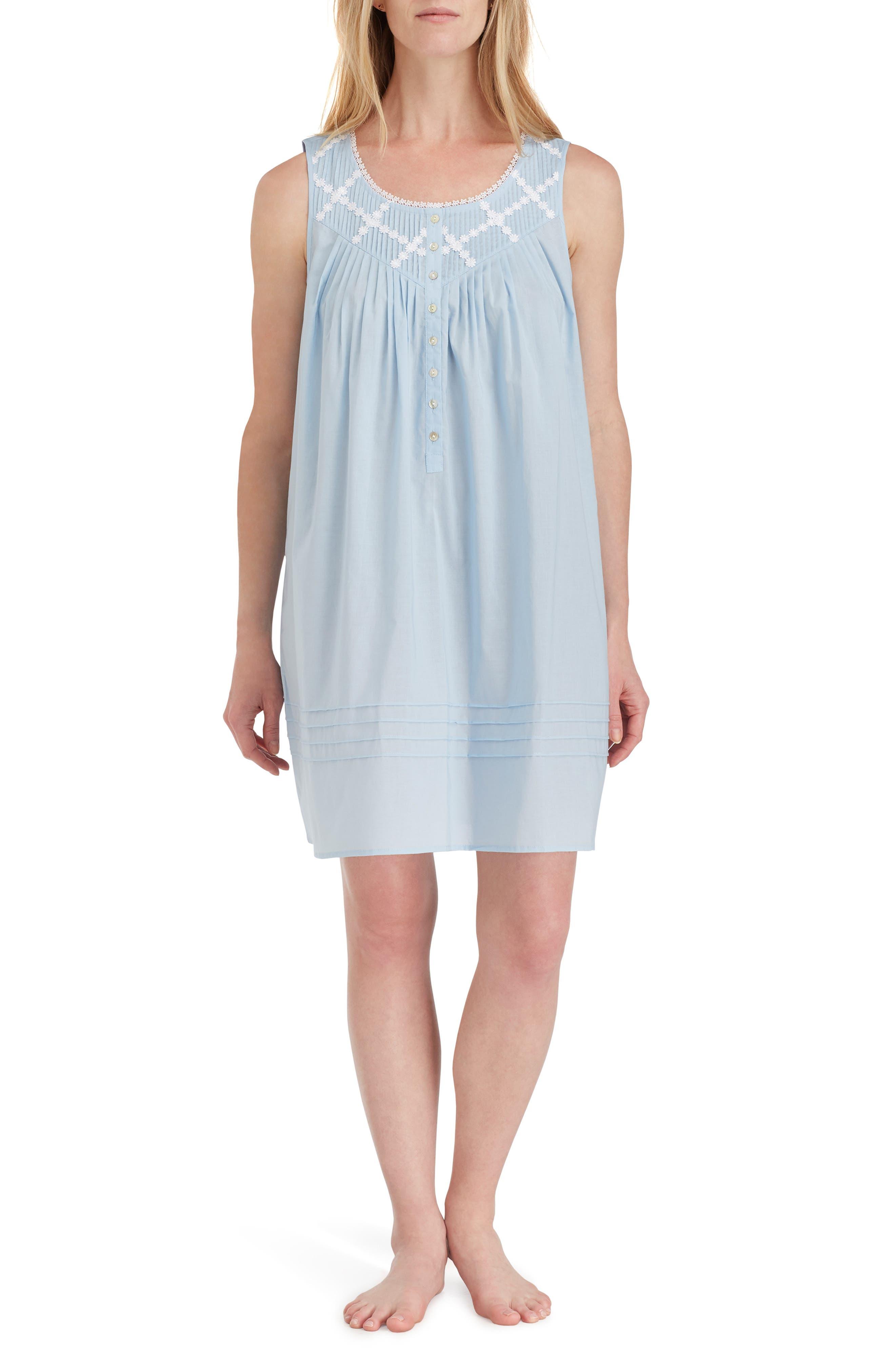 Eileen West Cotton Nightgown, Blue