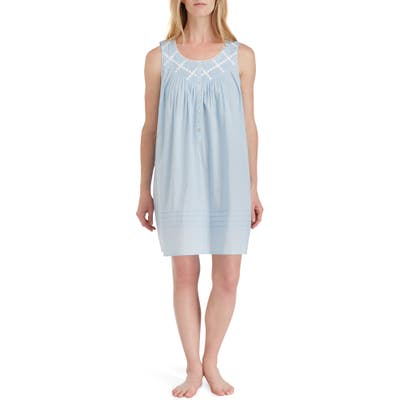 Eileen West Cotton Nightgown, Blue