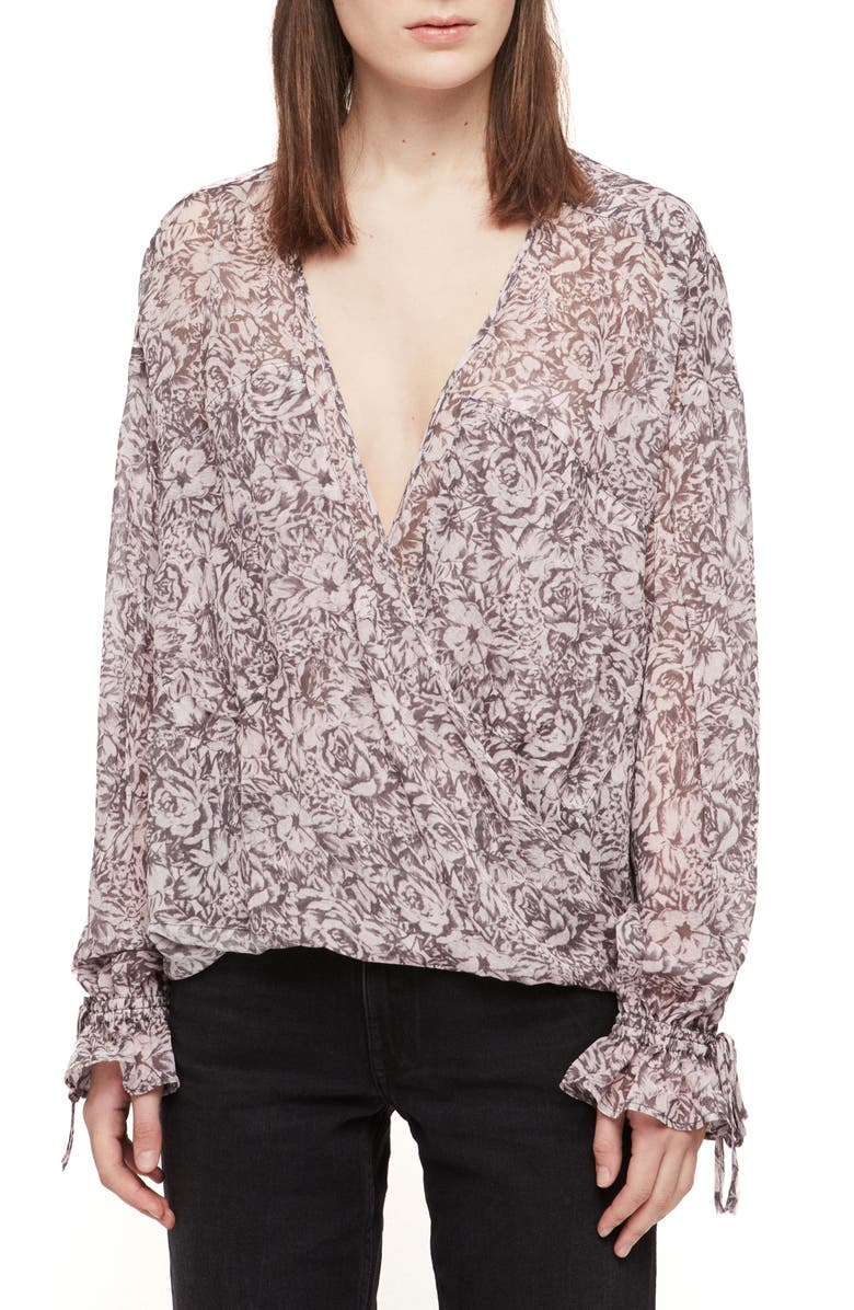 ALLSAINTS Penny Rosey Top, Main, color, DUSTY PINK