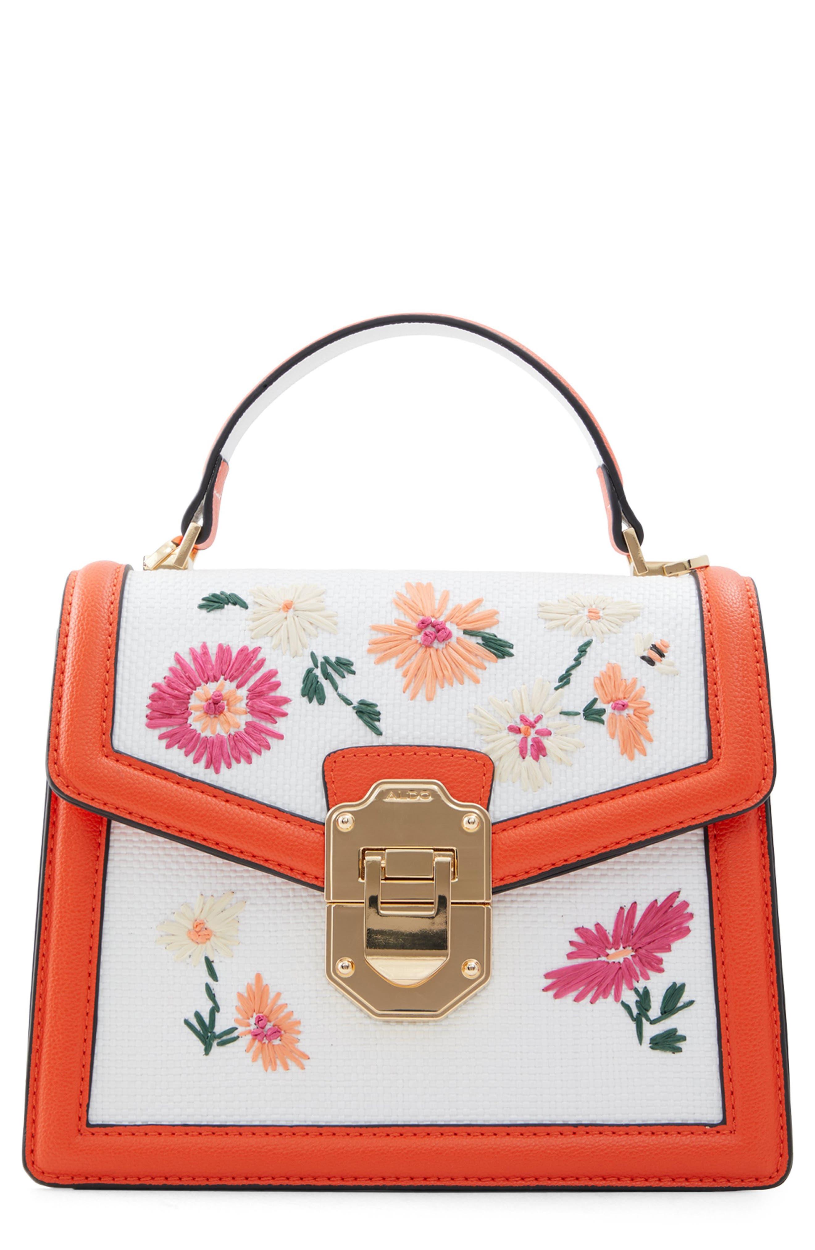 Adryniel Woven Floral Handbag