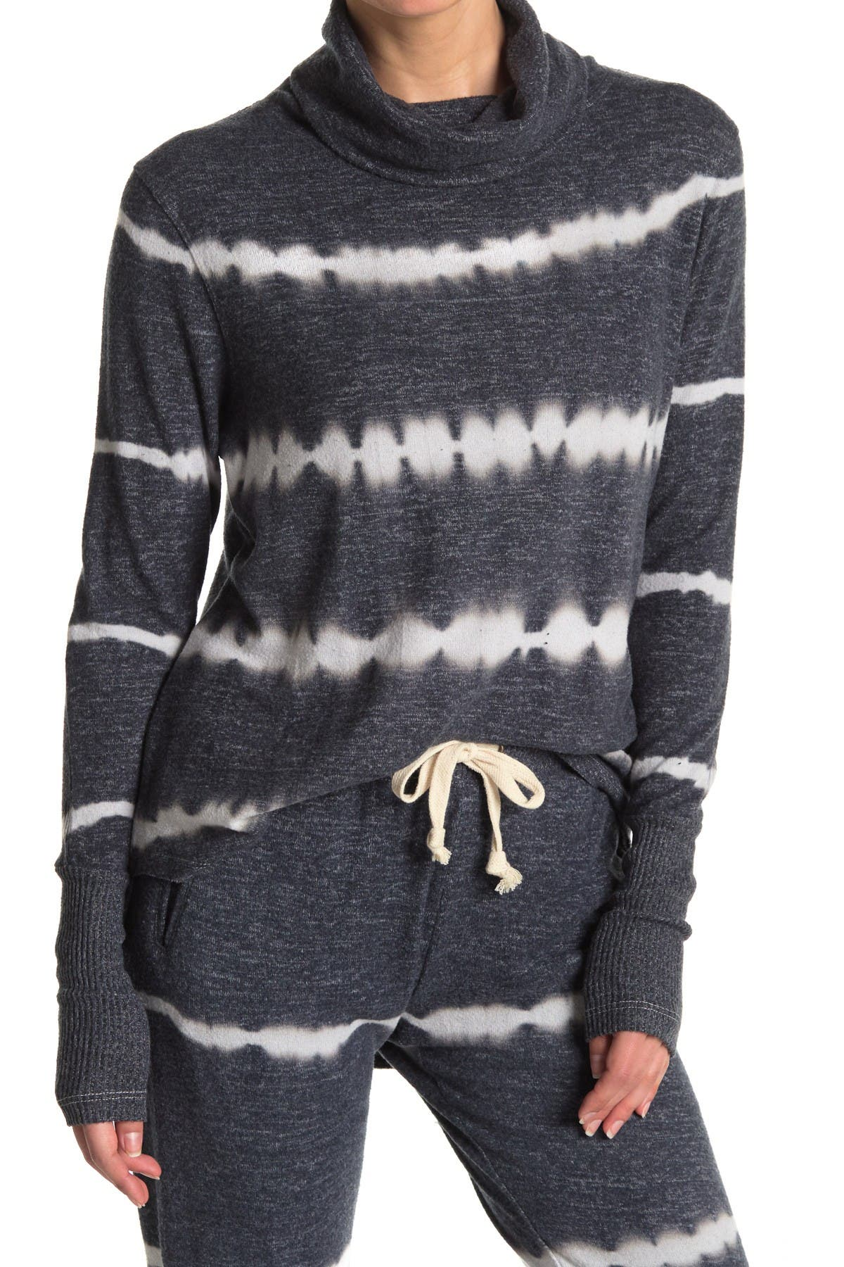 Image of Theo and Spence Tie Dye Cowl Neck Top