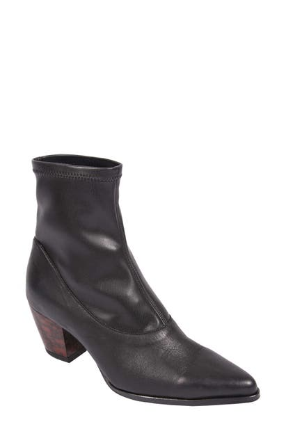 Andre Assous Paulyn Bootie In Black Leather