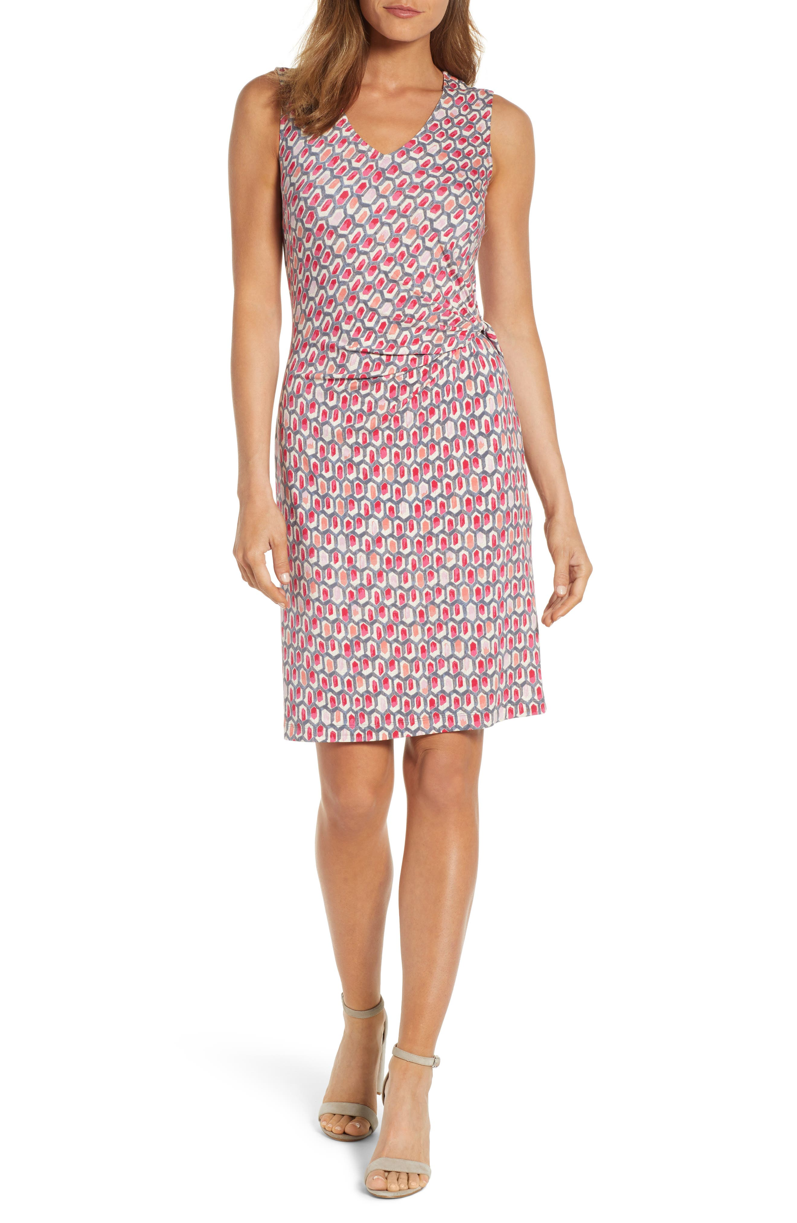 Petite Nic+Zoe Bright Stone Sheath Dress, Red