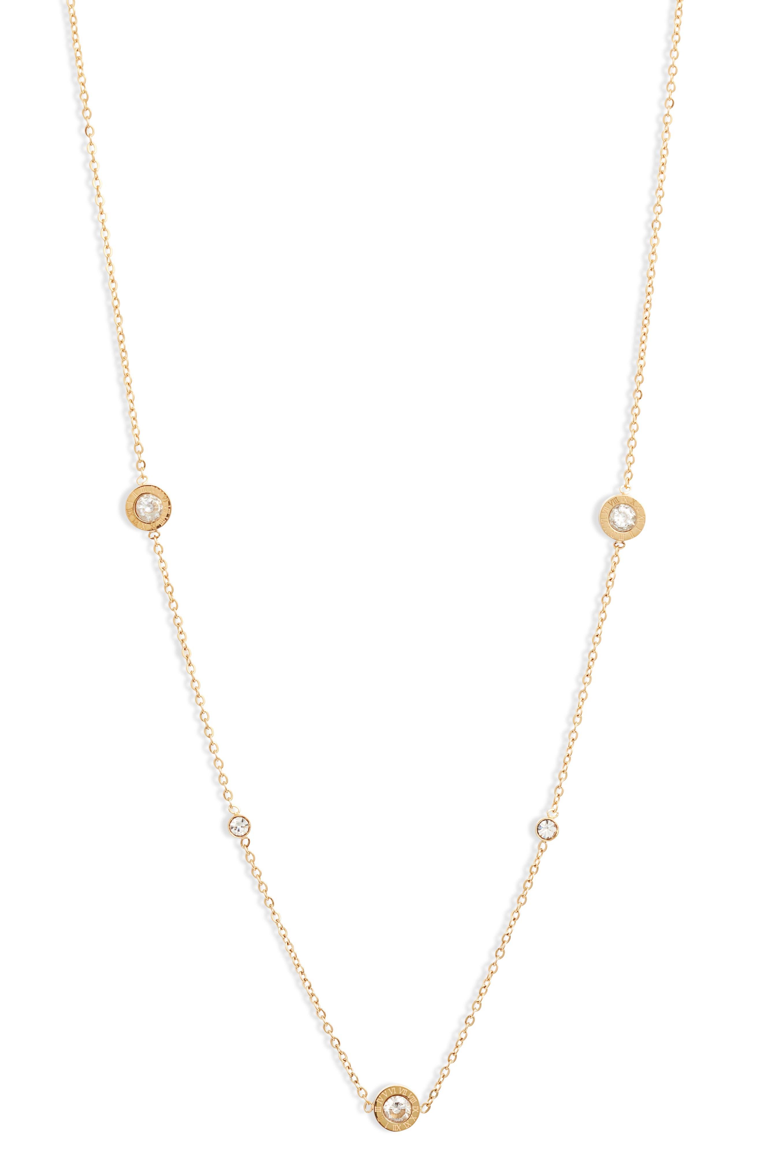 Roman Numeral Charm Necklace