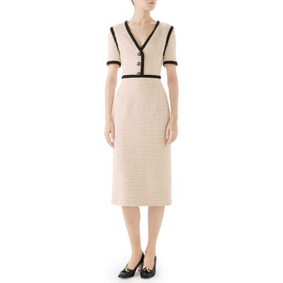Gucci Boucle Tweed Dress, US / 40 IT - Ivory