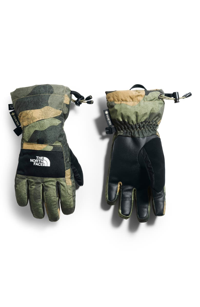 THE NORTH FACE Montana Gore-Tex<sup>®</sup> Waterproof Gloves, Main, color, BURNT OLIVE GREEN WAXED CAMO P