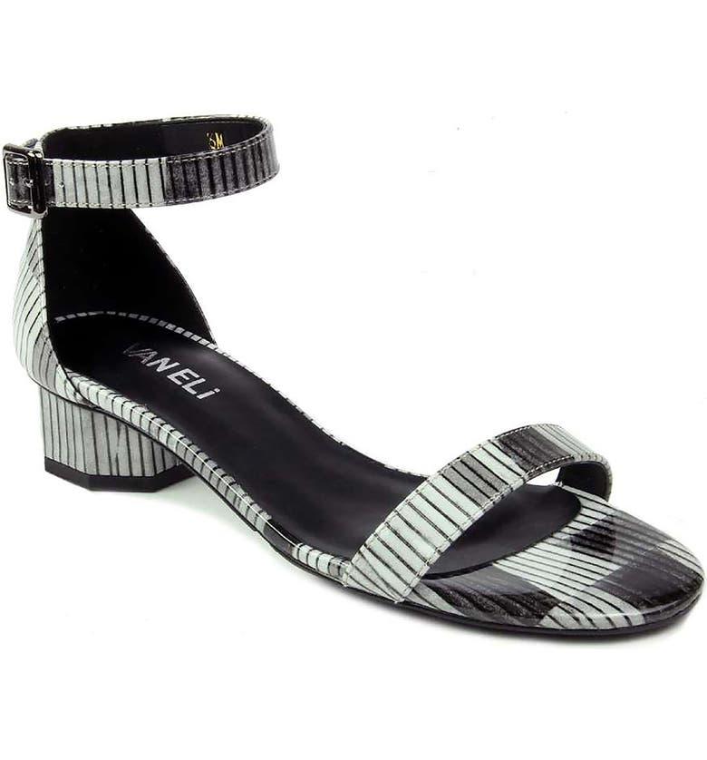 VANELI Hillie Stripe Ankle Strap Sandal, Main, color, 001