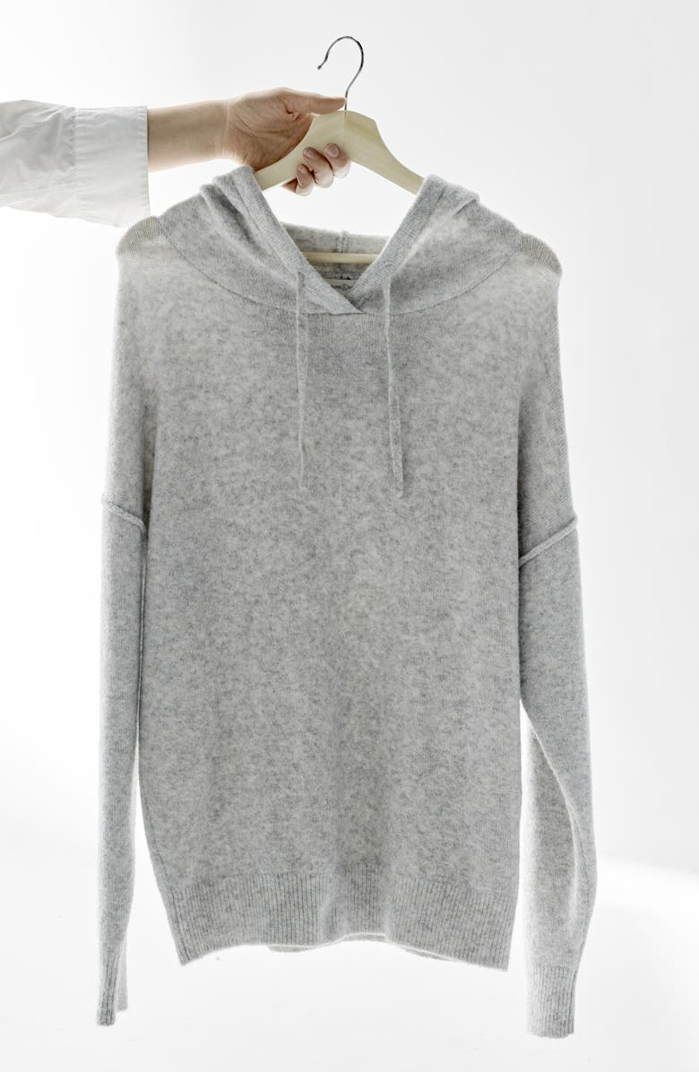 TREASURE & BOND Cotton Blend Sweater Hoodie, Main, color, 001