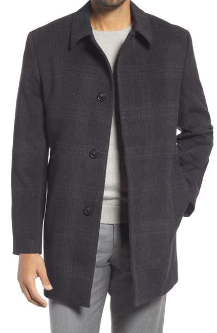 Image of Hart Schaffner Marx Tyler Plaid Wool Blend Topcoat