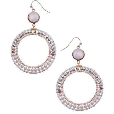 Nakamol Design Freshwater Pearl Frontal Hoop Earrings
