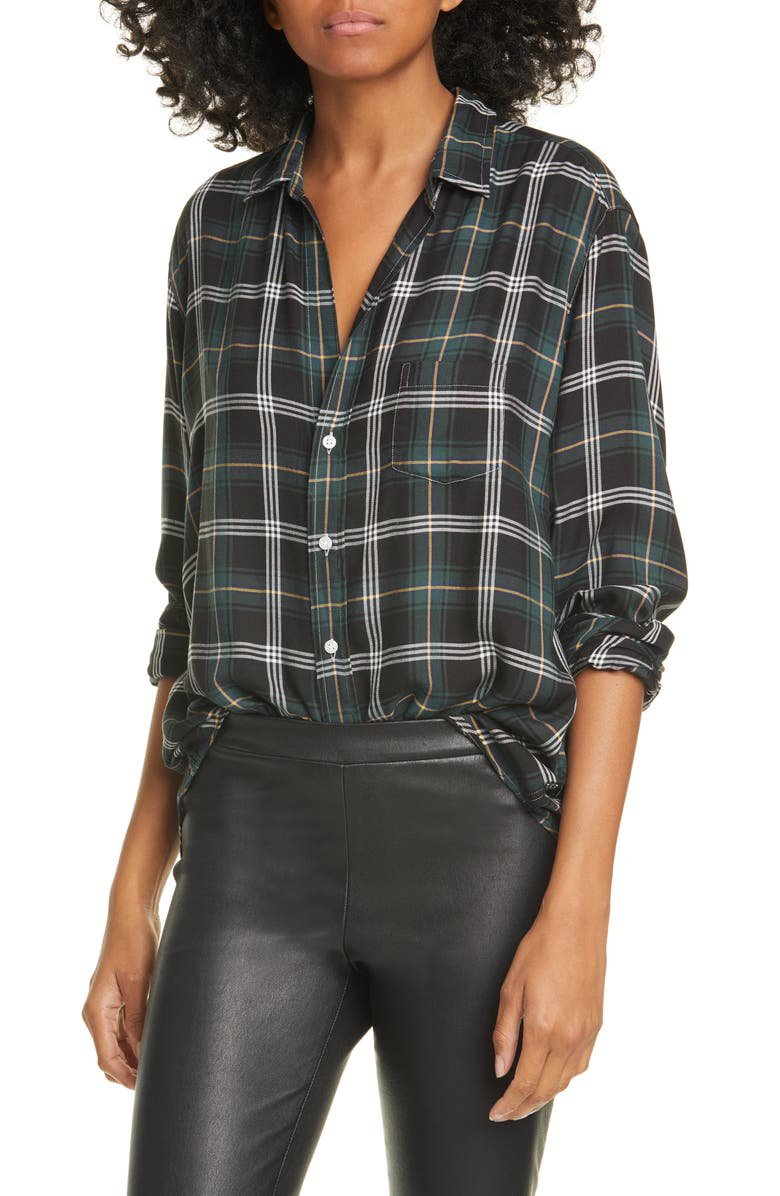 FRANK & EILEEN Long Sleeve Plaid Button-Up Shirt, Main, color, GREEN/ YELLOW/ BLACK PLAID