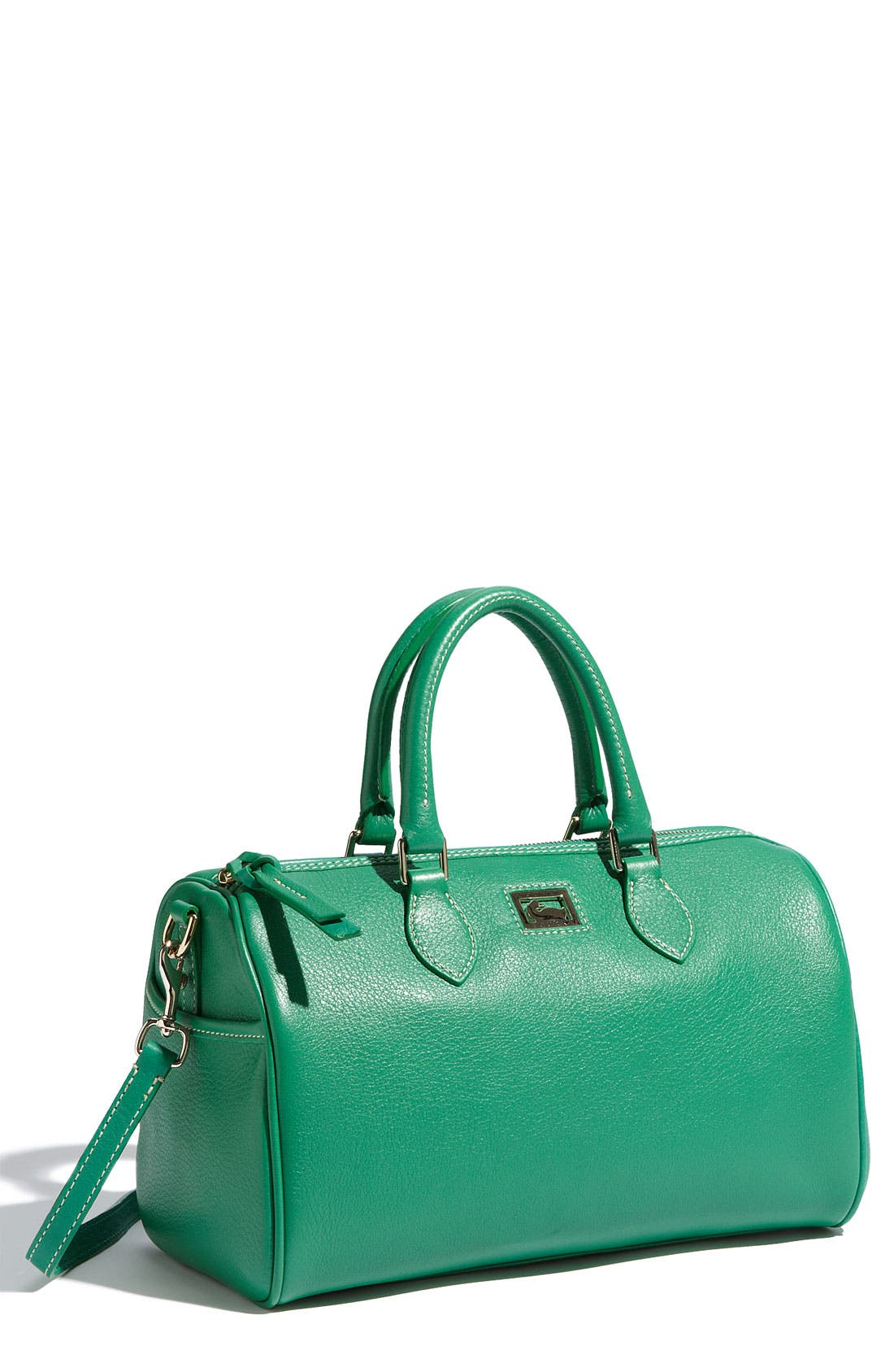,                             Leather Satchel,                             Main thumbnail 3, color,                             300