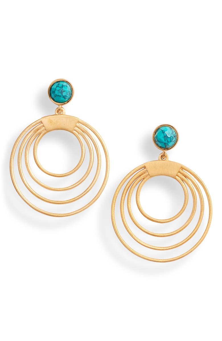 DEAN DAVIDSON Savannah Collection Turquoise Earrings, Main, color, 710
