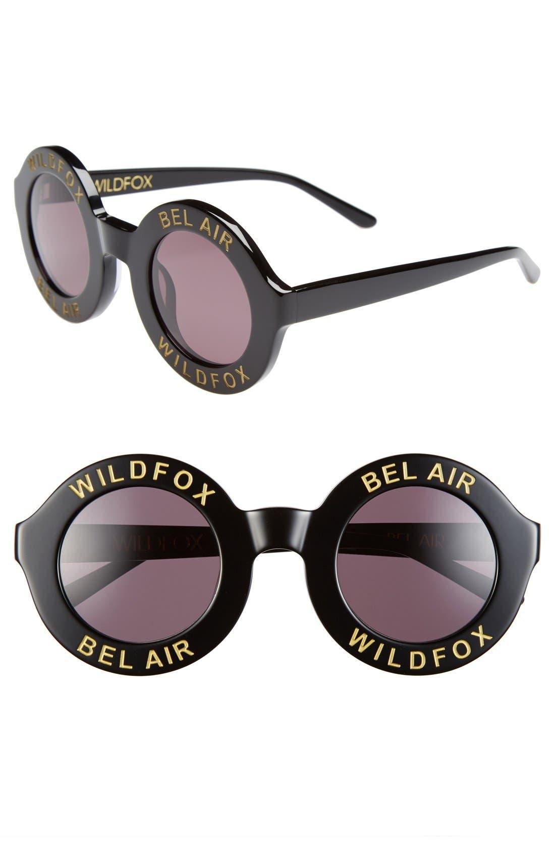 'Bel Air' 44mm Sunglasses, Main, color, 001