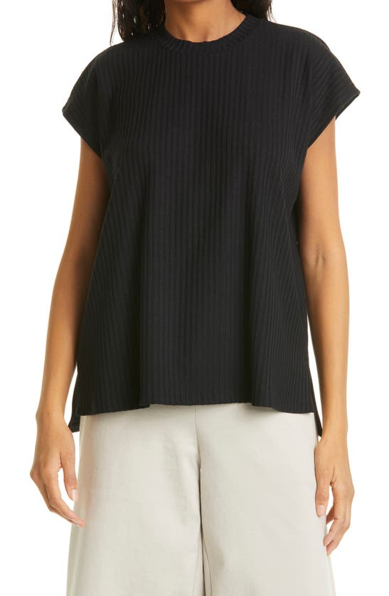 Eileen Fisher Cottons RIBBED ORGANIC COTTON TOP