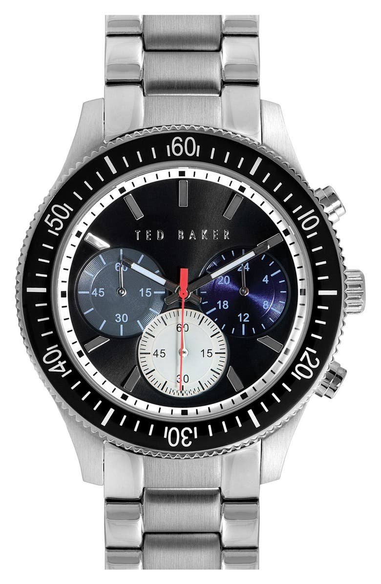 TED BAKER LONDON 'Dress Sport' Chronograph Bracelet Watch, 42mm, Main, color, 040