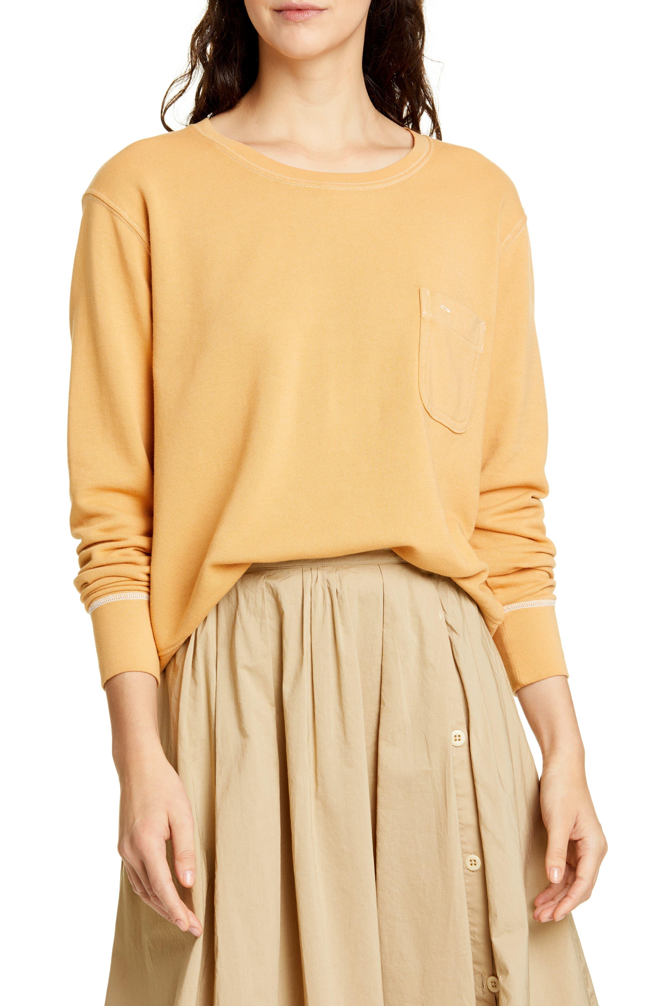 Alex Mill Fleece Pocket Sweatshirt, Yellow