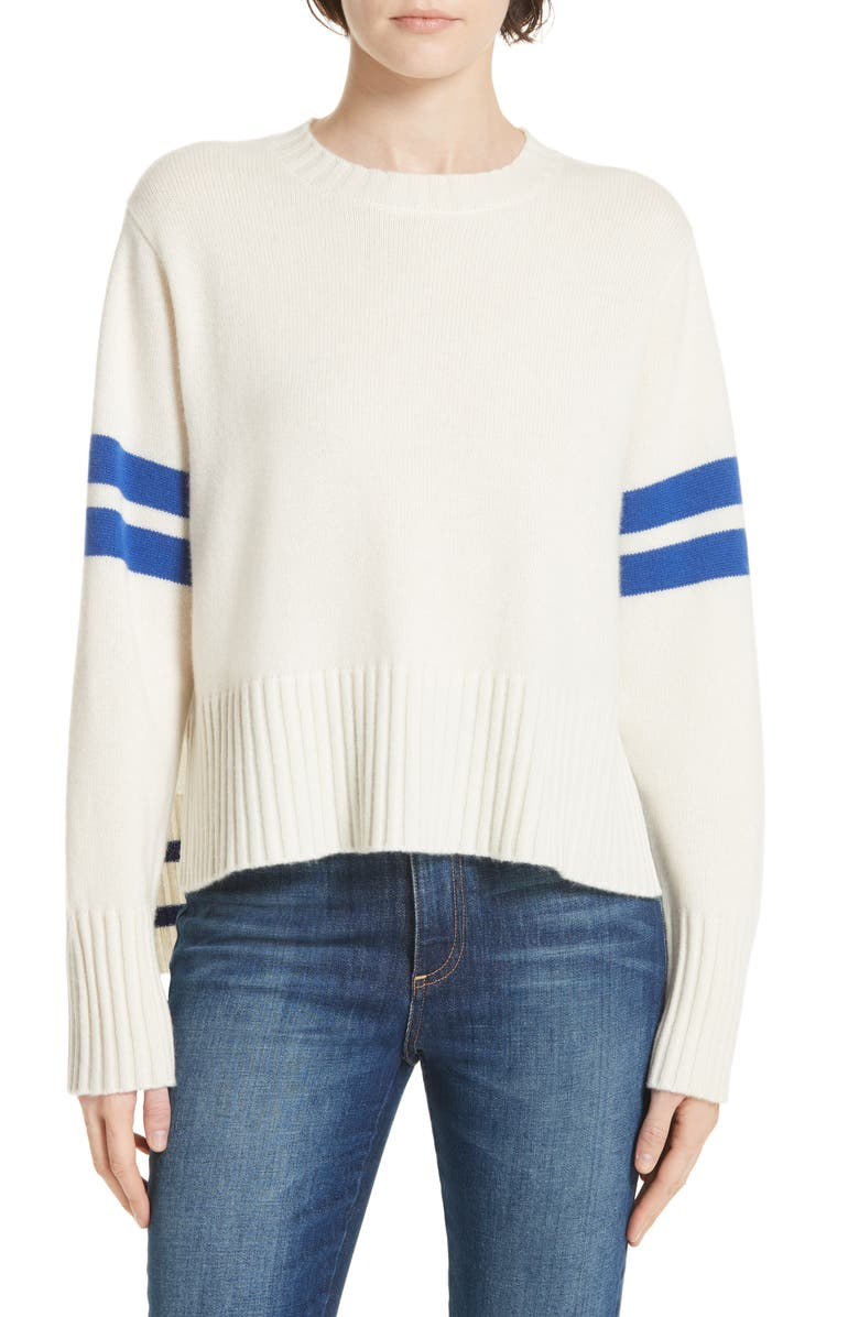 NORDSTROM SIGNATURE Stripe Cashmere Sweater, Main, color, 900