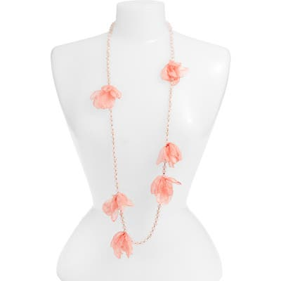 Stella + Ruby Ellie Long Beaded Chiffon Necklace