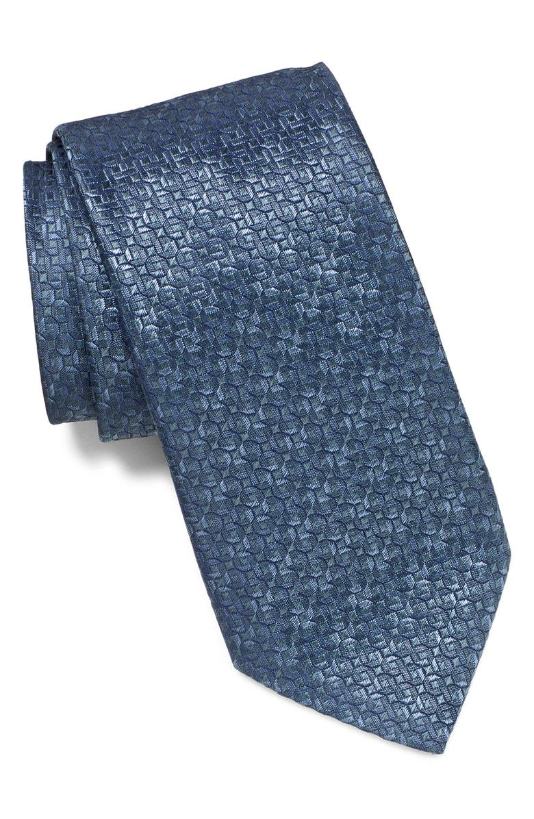 JOHN VARVATOS STAR USA Geometric Silk Tie, Main, color, 420