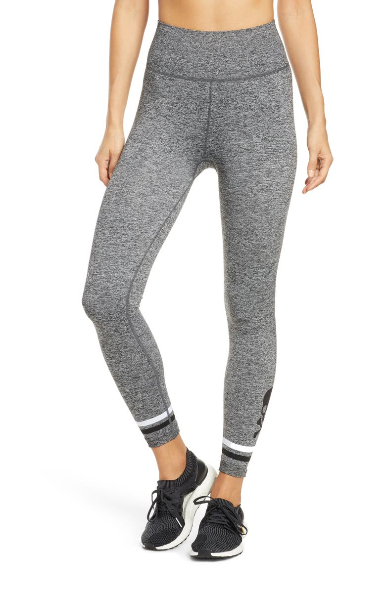 SOUL BY SOULCYCLE Seamless Skull Jacquard Tights, Main, color, 020